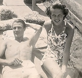 my father and my mother when they were young